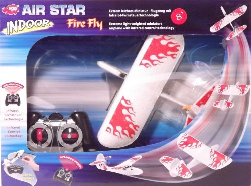 Dickie Toys Air Star Indoor Fire Fly Infrared Control Light Weighted Miniature Airplane