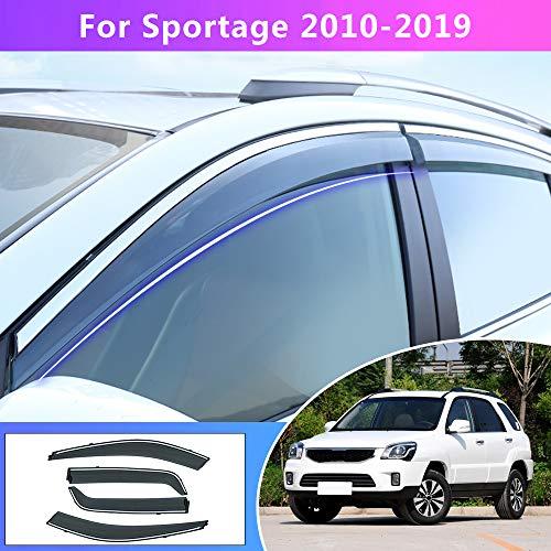 Tuqiang Fenster Visier Für K ia Sportage 2010 2011 2012 2013 2014 2015 2016-2018 ABS Kunststoff Vent Shades Windabweiser Sonnen Regen Schutz 4 Stück