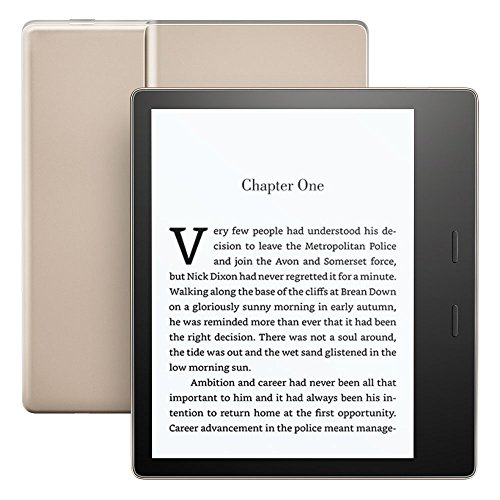 All-New Kindle Oasis E-reader - Gold, Waterproof, 7