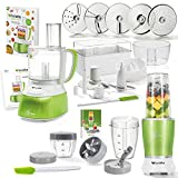 Genius Feelvita Food Processor | Deluxe Set 31 Teile | Küchenmaschine inkl. Feelvita Nutri Mixer | Smoothie-Maker | Stand-Mixer | Bekannt aus TV | NEU