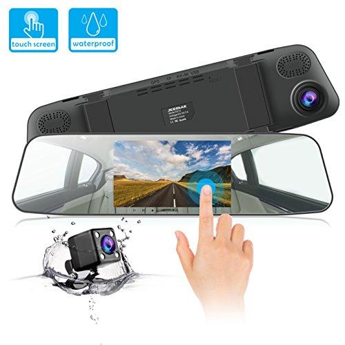 JEEMAK DashCam 1080P Autokamera 4.3 Zoll IPS Touchsreen kamera 170 ° Weitwinkel, WDR,...