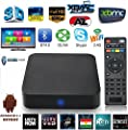 WISEWO Android TV BOX Quad Core Speed XBMC/KODI Fully Loaded 1GB/8GB Streaming Media Player Fully loaded HD 1080P Smart Set Top TV Box