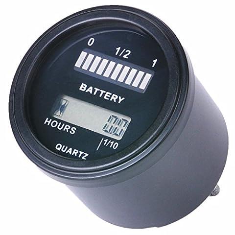 searon 12V 24V 36V 48V LED Batterie Indicateur Jauge Compteur avec compteur heures pour gel lifeo4au plomb AGM Piles et autres