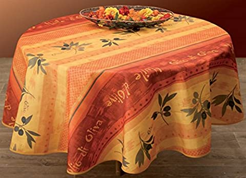 Nappe anti-taches Olivo - taille : Ovale 150x240 cm