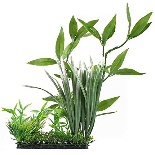OUNONA Künstliche Aquariumpflanze, künstliche Wasserpflanze Grün Aquarium Deko Pflanzen Giftlos für Fisch Tank Aquarium - Realistische Pflanzen Aquarium