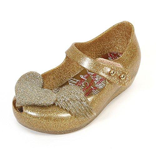 Melissa X Vivienne Westwood Mini bambini Ultragirl 16Cherubino Sandalo Oro Glitter, oro (Gold), 39,5 EU