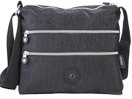 Big Handbag Shop - Borsa a tracolla unisex (nero)
