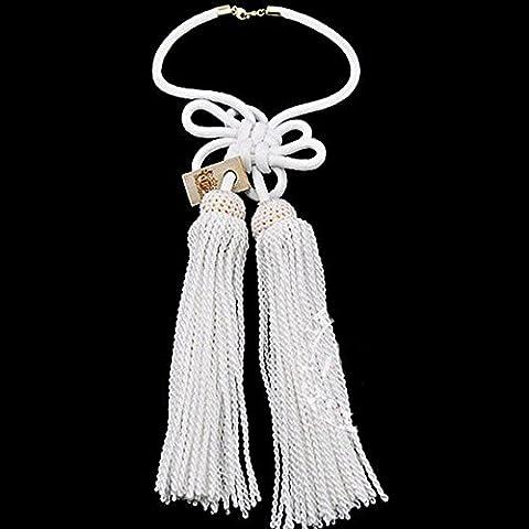 Charms Nuovo Rear View Mirror Car Vip regalo Silver King corda bianca nodo cinese