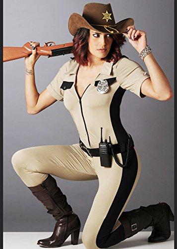 Damen Halloween Walking Dead Style Sheriff Kostüm M -