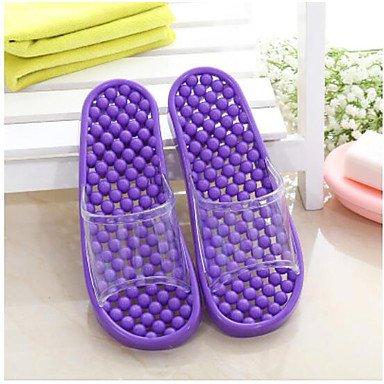 zhENfu donna pantofole & amp; flip-flops Estate Slingback Casual in gomma tacco piatto Purple