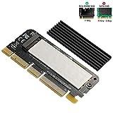 BEYIMEI Scheda PCI Express 3.0 da x16 a PCIe NVMe e AHCI SSD con dissipatore di Calore, Adatta Fattore di Forma M.2 (NGFF) con Chiave M in Formato 2230/2242/2260/2280