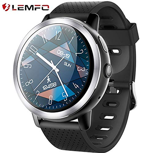 LEMFO LEM8-4G orologio intelligente,Fotocamera da 2 MP di,Android  7 1 1,MT6739,2GB + 16GB,Batteria 580Mah Bluetooth/GPS/Cuore Rate Monitor  per uomini