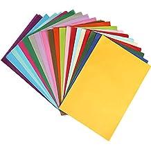 Naler Décorations de la Fête 200 pcs Papier de Soie coloré, 20 Couleurs  Assorties A4 f7ca5c76871