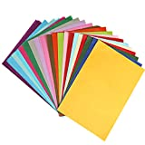 Naler 200pcs Carta Kraft, 20 colorato assortiti A4 Size Carta per Art Craft, Cancelleria per ufficio, Decorazione per feste