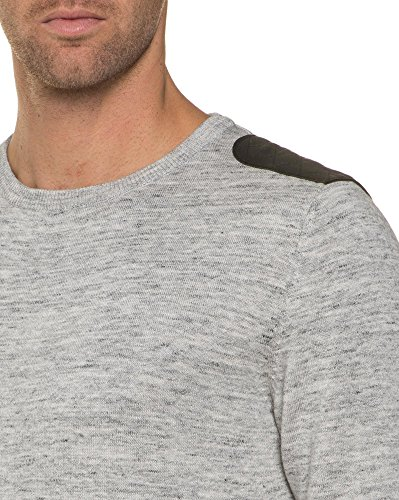 Deeluxe 74 - Pull Gris Chiné Col Rond Gris