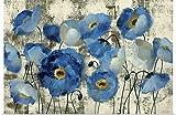 Lamlzzoo Acquamarina Floreale Fai-da-Te Dipinto da Kit di Numeri Vernice su Tela Pittura a Olio Digitale Decorazione della Parete Astratta