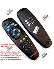e-INFINITY Glossy Tata Sky Remote for DTH with Learning Feature (Black)