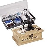 Nähkästchen und Nähzubehör–Vintage Singer Style mit Nähset Kurzwaren Box Essentials. Fantastisches Geschenk Idee H8x W24x T 20cm