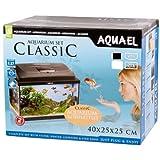 Aquael Aquarium CLASSIC 40er Set gewölbt/oval schwarz