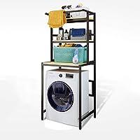 WZF Scaffale per Forno a microonde con ripiano per spezie in Acciaio Inossidabile a Un Solo Strato e ripiano per mobili 56.5X36.5X36.9cm