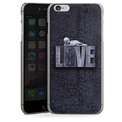 Apple iPhone X Silikon Hülle Case Schutzhülle Love Schwarz Weiß Engel Hard Case anthrazit-klar