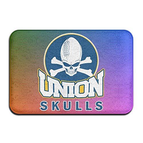 Door Mat Indoor Felpudo Rugby Skull American Football