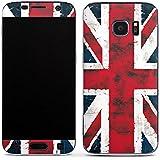 Samsung Galaxy S7 Case Skin Sticker aus Vinyl-Folie Aufkleber Grossbritannien Flagge Union Jack - Grunge