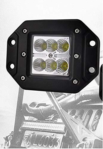 FARO LED DA INCASSO 18W PER ESTERNI FUORISTRADA JEEP LUCE LED SUV CW407