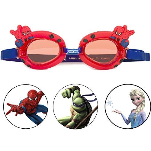 Disney Schwimmbrille zum Tauchen im coolen Spiderman,Frozen,Ninja Turtles Design, Kinder Taucherbrille, Junior (Maske Sammler)