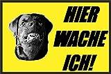 Hundeschilder Hunde Schild Schilder -09- Hier wache ich 29,5cm * 20cm * 2mm, ohne Befestigung