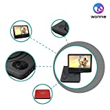 """WONNIE 9.5"""" Portable DVD Player with 270° Swivel Screen, Best Gift for Kids, Support USB/SD Slot, Direct Play in Formats AVI/MP3/JPEG/RMVB (9.5, Red)"""