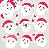 Santa Claus Adesivi in Feltro per Bambini, Ideali per Decorare Bigliettini, Creazioni Fai da Te e Collage (confezione da 90)