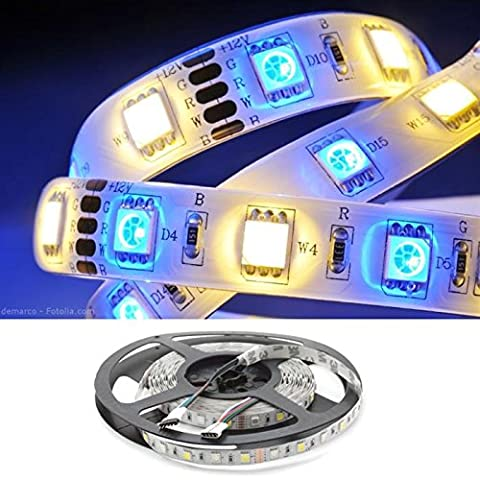 RGBWW RGB+WW 3000K LED Streifen / LED Strip 5m ; IP20 ; 300LEDs - Gr. 5050 ; 12V