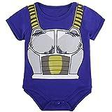 Vêtement Bébé Super Héro DBZ| Body Pyjama enfant | Déguisement Végéta | Costume original et rigolo | 100% Coton (6-12 mois)