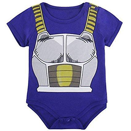 (Kleidung Baby Super Hero dbz| Body Pyjama Kinder | Kostüm végéta | Kostüm Original und lustige | 100% Baumwolle)