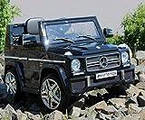Trendsky Lizenz Mercedes Benz G65 Elektro Power mit 2X Power Motoren, Kinderauto Sportwagen Kinder Akku Fahrzeug Kinderfahrzeug Kid Auto (Schwarz)