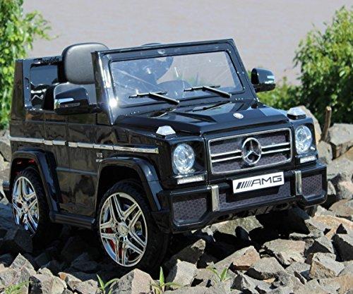 Trendsky Lizenz Mercedes Benz G65 Elektro Power mit 2X Power Motoren, Kinderauto Sportwagen Kinder Akku Fahrzeug Kinderfahrzeug Kid Auto (Schwarz)*