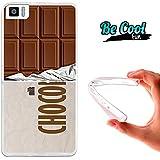 Becool® Fun - Funda Gel Flexible para Bq Aquaris M4.5 .Carcasa TPU fabricada con la mejor Silicona, protege y se adapta a la perfección a tu Smartphone y con nuestro diseño exclusivo Tableta de chocolate