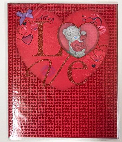 Me To You Me to You Tatty Teddybär - große Valentinstag-Karte - Rose
