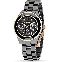 Morellato Time Women's Quartz Watch with Black Dial Analogue Display and Black Ceramic Bangle R0153116502