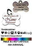 Creative Things (by Anja Betz) Anhänger fürs Halsband Knochen mit Motiv-Sonderzeichen viele Farben & Schriftarten creathi