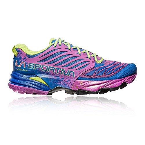La Sportiva Akasha Woman, Zapatillas de Trail Running para Mujer, Multicolor Marine Blue/Purple 000...