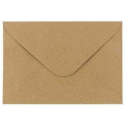 Kraftpapier Umschläge, 100 Stück | hohe Qualität: 110 g/m² | Briefumschläge, Kuvert, Briefkuvert, Briefhülle für Grußkarten, Einladung, Geburtstagskarten (DIN B6 | 12,5 x 17,5 cm)