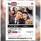Marco photocall youtube personalizado 90x120cm.