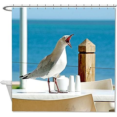 whiangfsoo Funny Seagull Face Custom Home decorazione tenda da doccia,