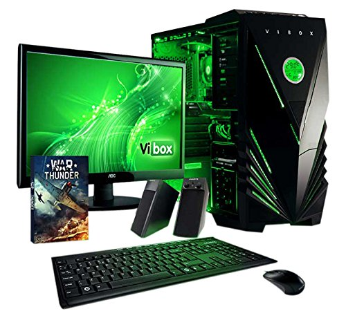 VIBOX Stealth PC Pacchetto 9 Gamer PC - 3,9GHz AMD 2-Core CPU, R7 250 GPU, buon mercato, Dekstop Gaming PC con buono Gioco, 22