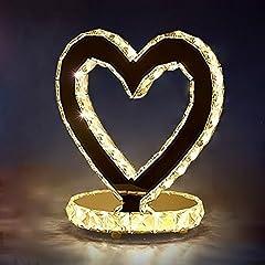 Idea Regalo - lampada a forma di cuore camera da letto comodino regali di nozze Lampada da tavolo di nozze lampada da comodino cuore creativo, LED (Colore : Luce calda)
