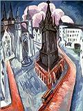 Poster 30 x 40 cm: Der Rote Turm in Halle von Ernst Ludwig