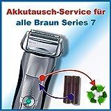 Premium Akkuwechsel für alle Braun Rasierer der Series7 mit vorab zugesendetem Versandmaterial - sämtliche Modelle !!!