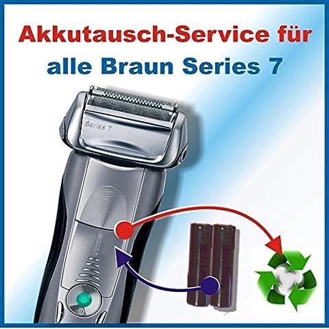 Premium Akkuwechsel für alle Braun Rasierer der Series7 mit vorab